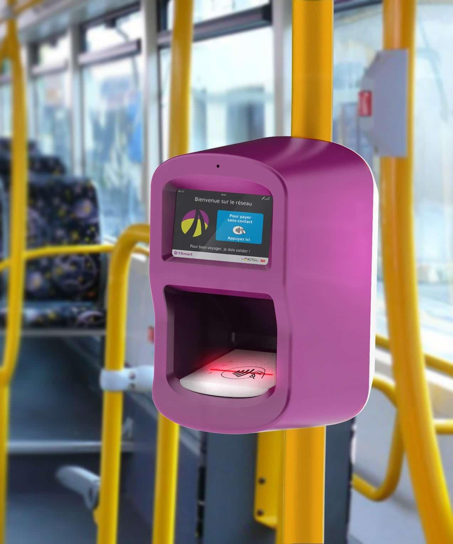 Valideur connecté pour les transports urbains d'Actoll