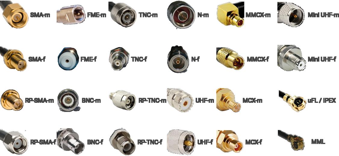 les différents connecteurs