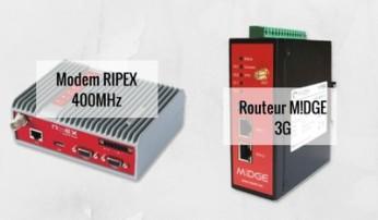 Modem RipEX 400 MHz et routeur GSM M!DGE