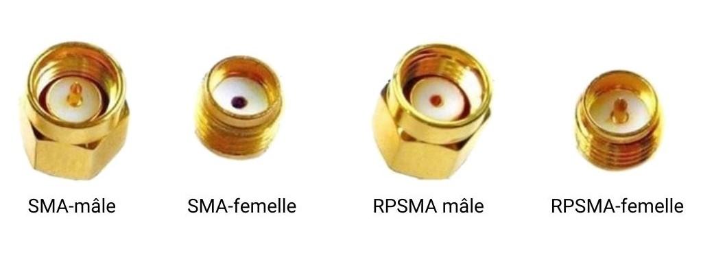 connecteurs SMA-mâle SMA-femelle RPSMA-mâle RPSMA-femelle