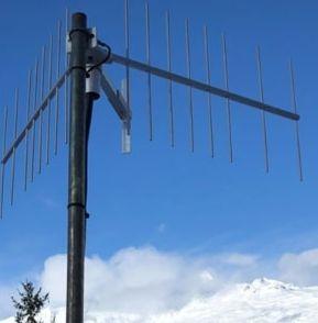 antenne avec fixation sur un mât